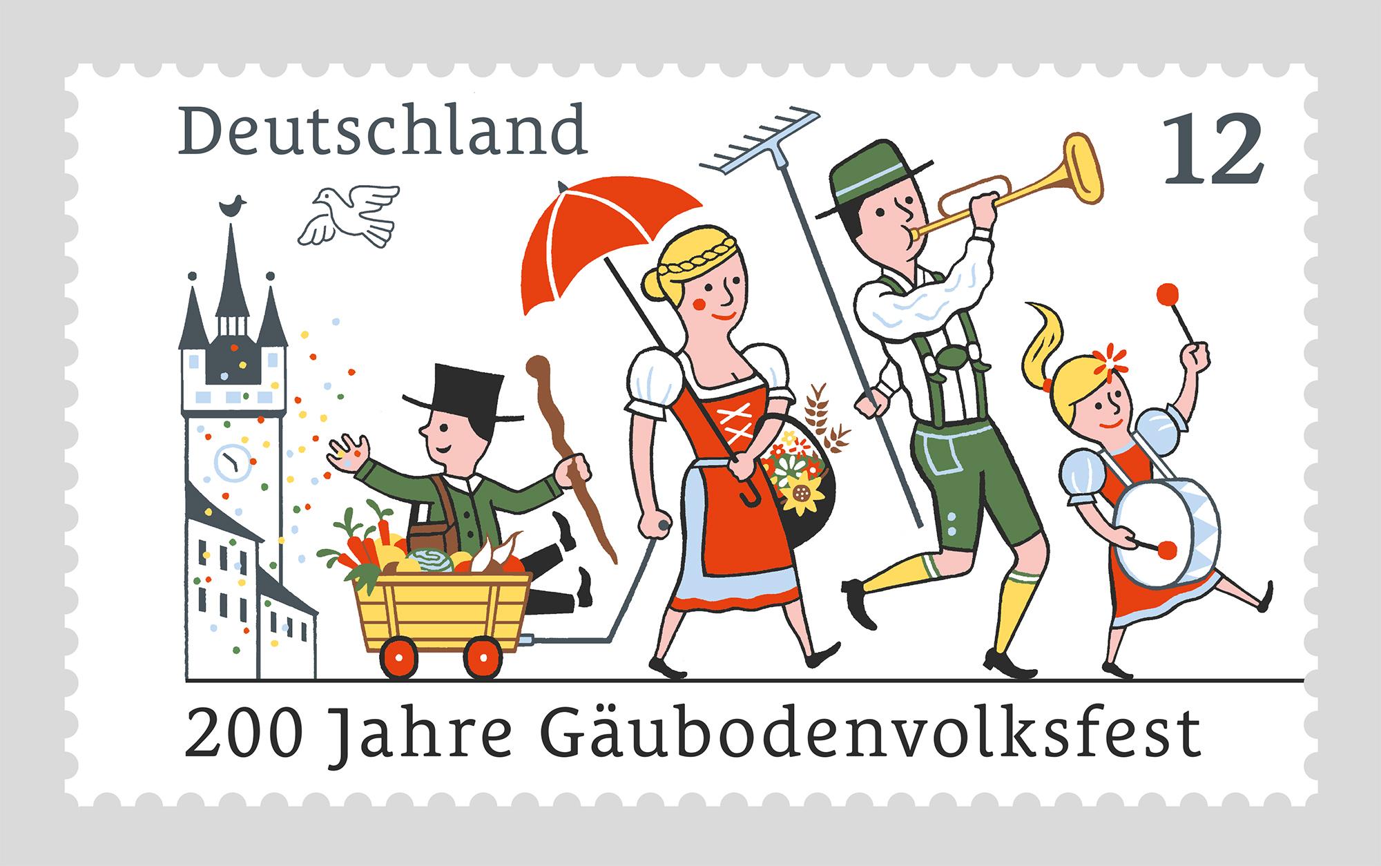 Gäubodenvolksfest Briefmarke
