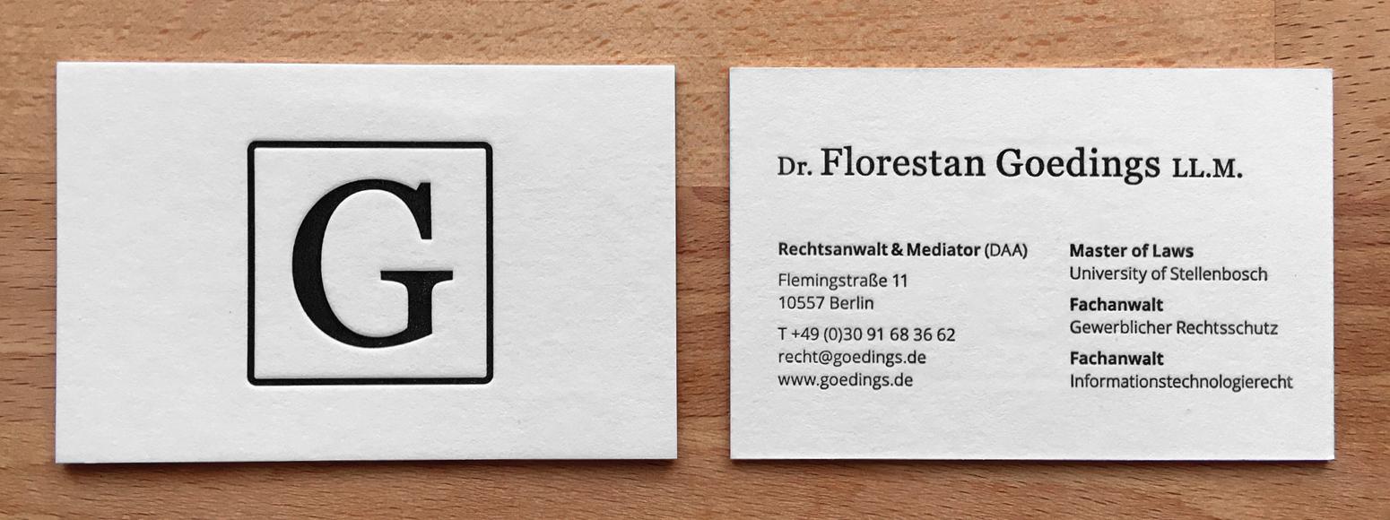 Goedings Visitenkarte